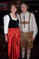 photo of Carol & Mark dressed in Alpine costume for drafting or parades